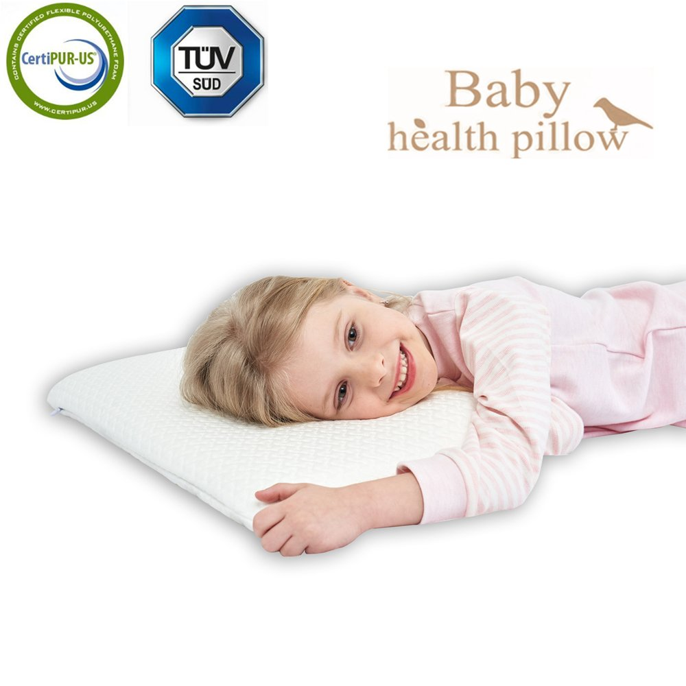 gfm Memory Foam Toddler Pillow,Breathable Kids Contour Pillows For Sleeping(19.68x11.81x1.18 In)