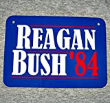 Metal Sign RONALD REAGAN George H Bush president campaign poster 1984 United States of America USA presidential