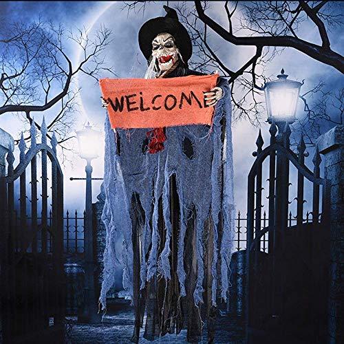 Diagtree Halloween Decorations Hanging Ghost Grim Reaper Prop