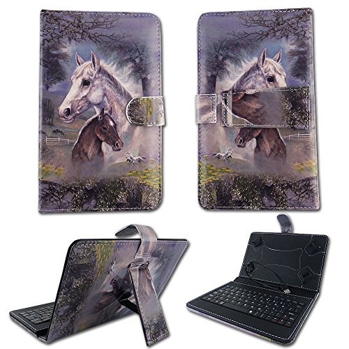 "Racing Horse Case For RCA Voyager 7 inch 7"" Tablet KickSt..."