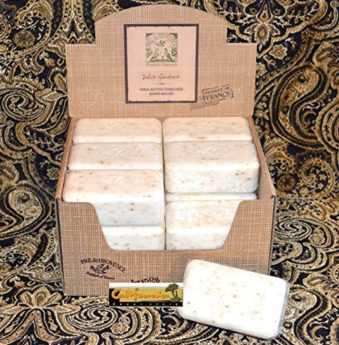 (Case of 18 Pre de Provence White Gardenia Scent 150 gram shea butter large soap bars)