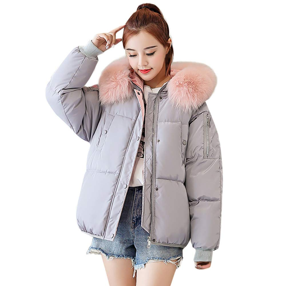 Seaintheson Women's Coats OUTERWEAR レディース B07HRFJGKT Large|グレー グレー Large