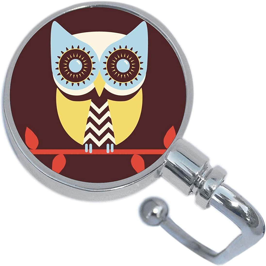 Colorful Owl Purse Hanger with Keychain
