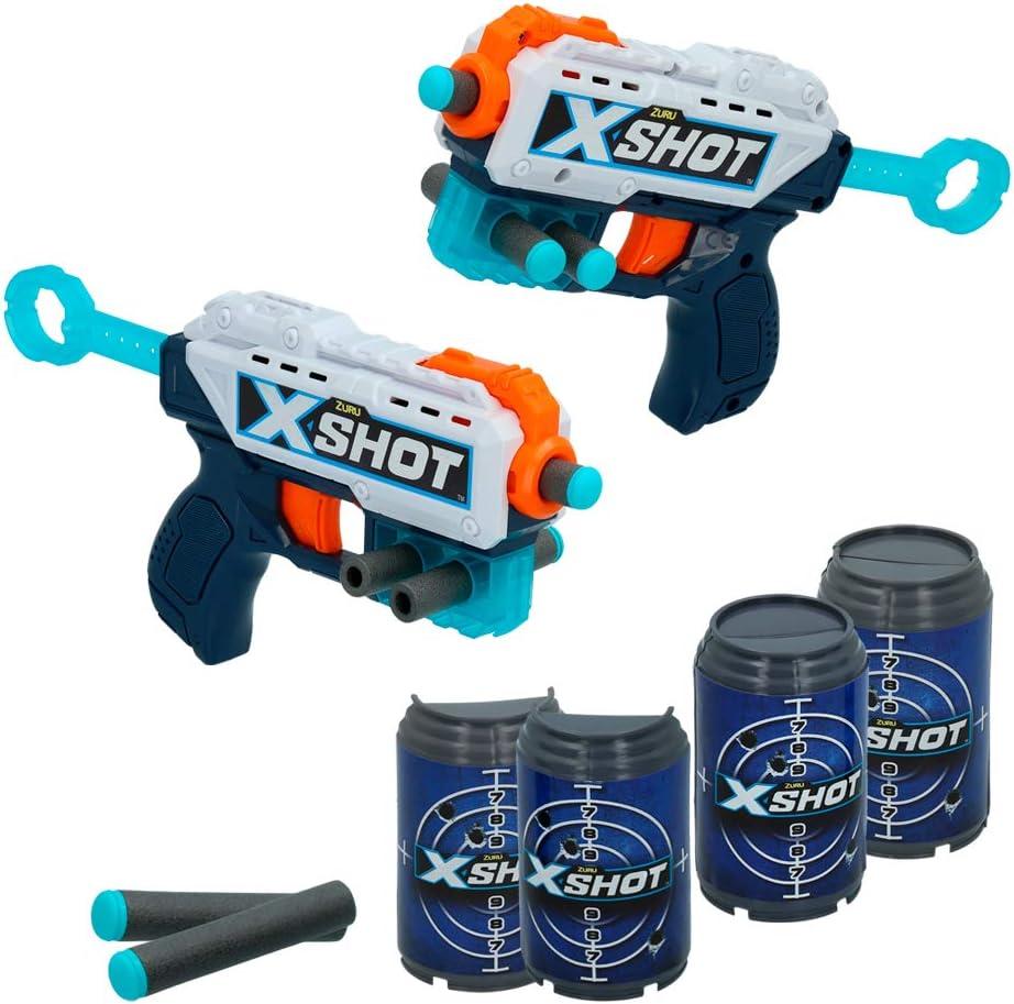 X-Shot - Pack 2 pistolas Recoil X-Shot Excel + 6 botes (44769)