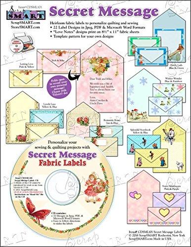 ScrapSMART - Secret Message Fabric Labels - Software Collection - Jpg & PDF files (CDSML101)