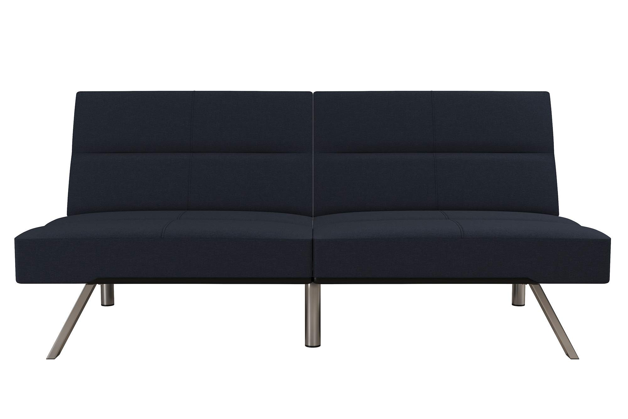 DHP Studio Convertible Futon Couch, Blue Linen by DHP