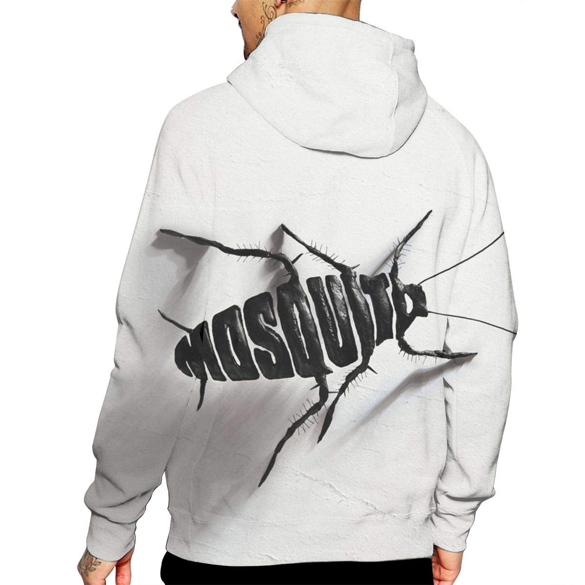 Mosquito Toy Mans Long Sleeve Hoodie Casual Pocket Hooded Sweatshirt