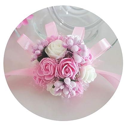 7f4a7da015 Amazon.com: jhdnhse Wrist Corsage Bridesmaid Sisters Hand Flowers ...