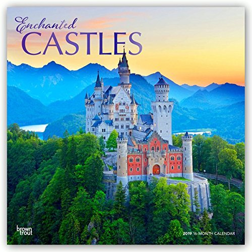Enchanted Castles 2019 12 x 12 Inch Monthly Square Wall Calendar with Foil Stamped Cover, Travel Castles Places