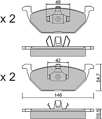 Metelligroup 22 0211 1 Bremsbeläge Made In Italy Ersatzteile Für Autos Ece R90 Zertifiziert Kupferfrei Auto