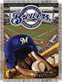 "MLB Milwaukee Brewers Home Field Advantage Woven Tapestry Throw, 48"" x 60"""