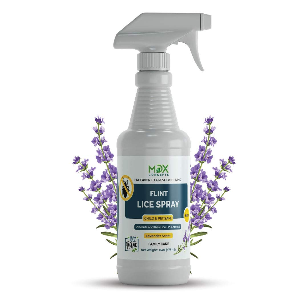 MDXconcepts Organic Lice Killer - Repellent Spray for Home, Bedding, Belongings - Child and Pet Safe - Non Toxic - Non Staining by mdxconcepts