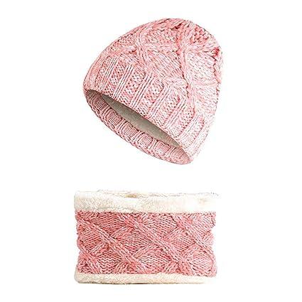 massima qualità risparmia fino al 60% beni di consumo Per, Kit per cappello + sciarpa a maglia, scaldacollo, cappello invernale  caldo, unisex, per bambini da 1 a 8 anni rosa rosa