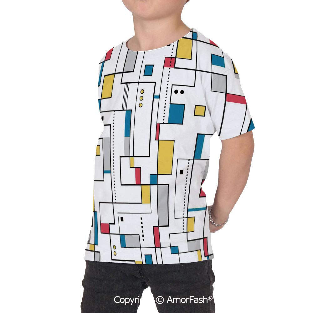Abstract Home Decor Girls Short-Sleeve Midweight T-Shirt,Polyester,Abstract Patt