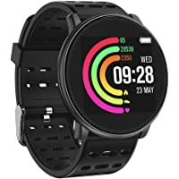 UMIDIGI Fitness Tracker Heart Rate Monitor Smart Watch Activity Tracker Smart Bracelet Bluetooth Pedometer with Sleep Monitor for Android or iOS Smartphones [Black]