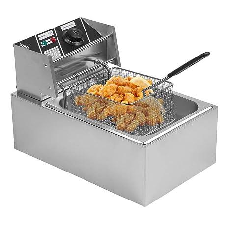 Amazon.com: Holarcse - Freidora eléctrica con cesta de 10 ...