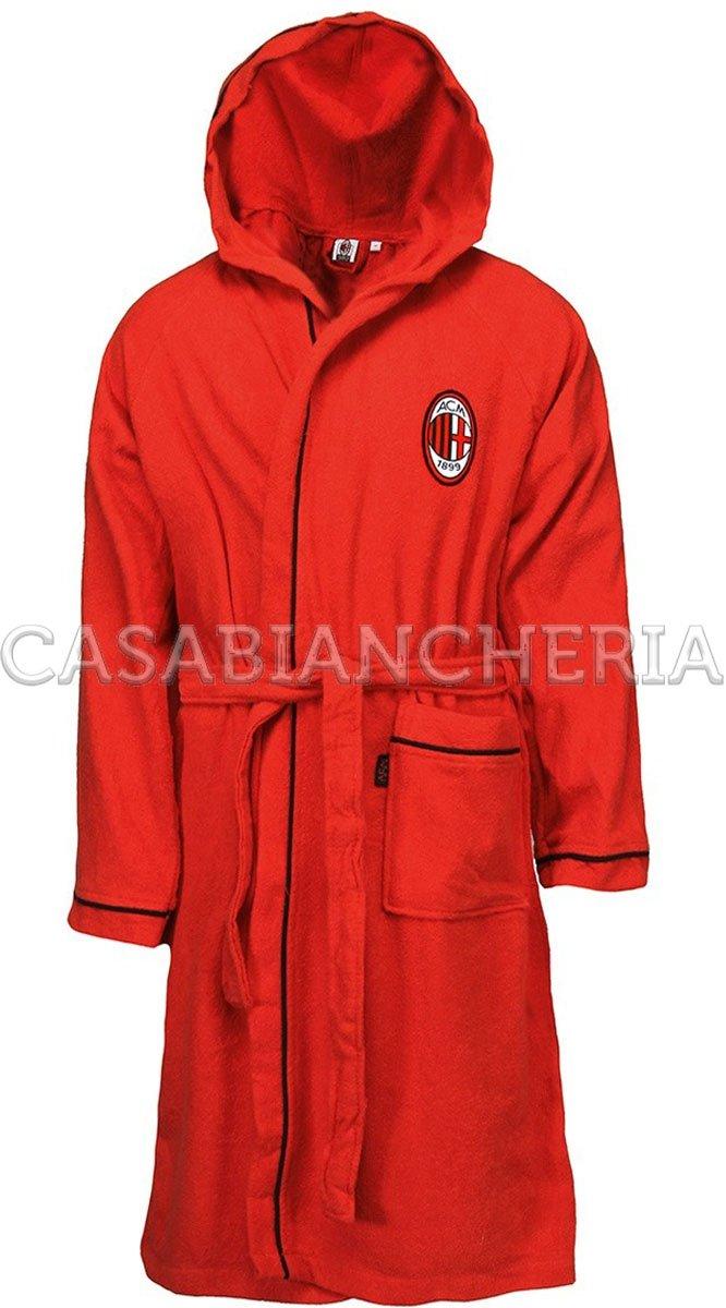 Accappatoio con cappuccio Milan originale Figc-XL novia
