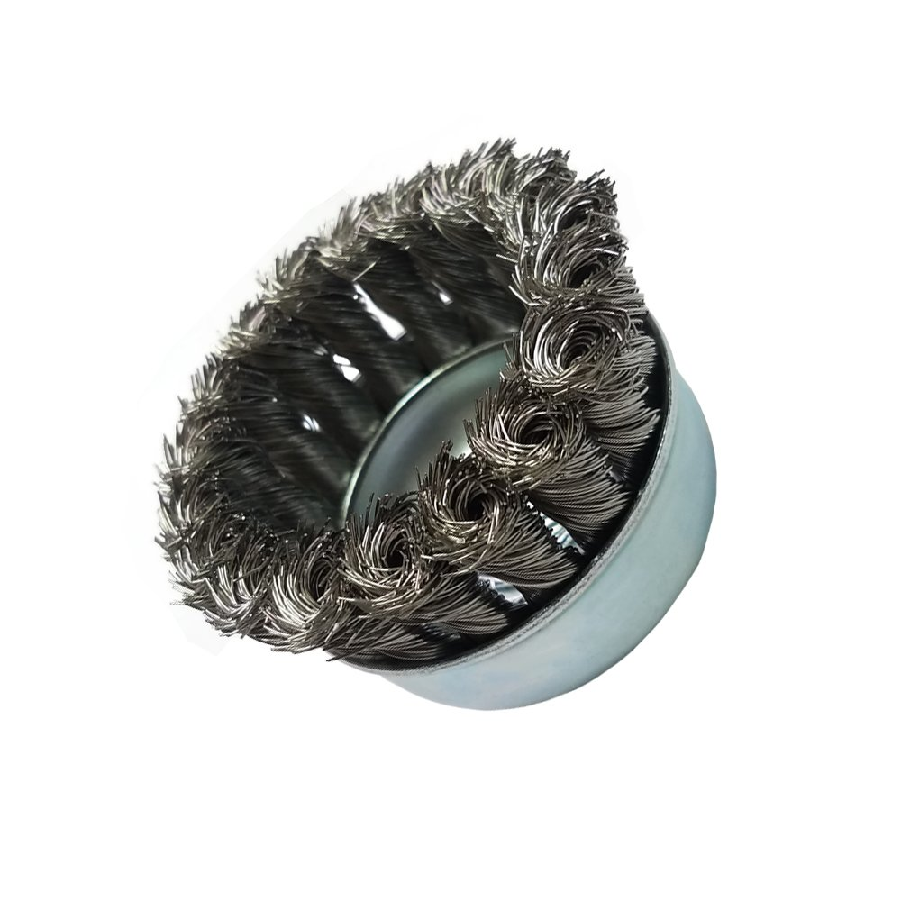 Zenith Industries ZN306016 Stainless Steel Twist Knot Cup Brush 2-3//4 x .020 x 5//8-11
