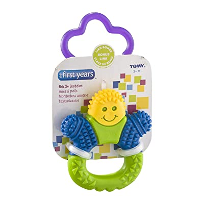 First Years Y1453 Learning Curve Bristle Buddy Teether: Beauty [5Bkhe0501294]