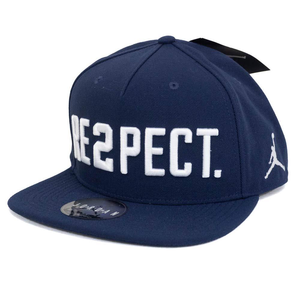 Nike Jordan Youth's Derek Jeter''Re2pect'' Snap-Back Hat Navy/White 9A0019-007 (One Size)