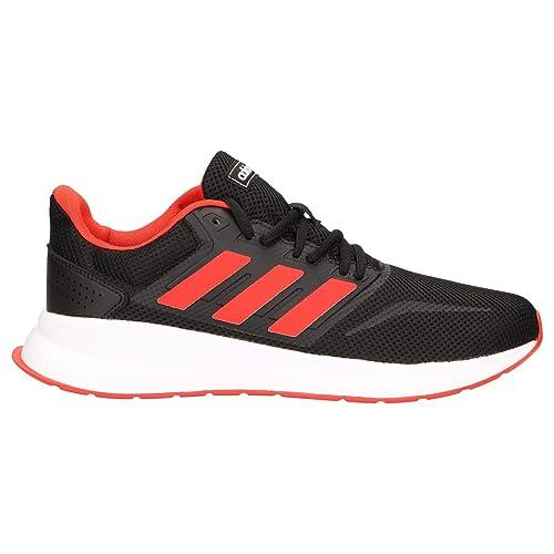 Adidas Runfalcon, Zapatillas de Trail Running para Hombre, Multicolor (Negbás/Rojact/Negbás 000), 41 1/3 EU: Amazon.es: Zapatos y complementos