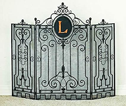 Amazon Com Tuscan Wrought Iron Gate Design Monogrammed Fire