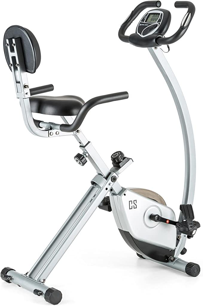 Capital Sports Trajector Bicicleta estática ergómetro plegable (Volante de 1,4 Kg, 8 niveles re...