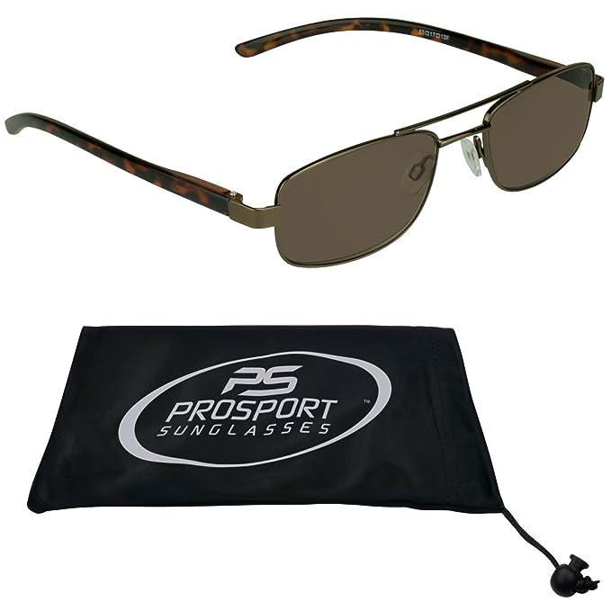64ab198bdd55 Pilot Square Aviator Reading Glasses Tinted Full Lens Sun Readers (Brown,  1.00)