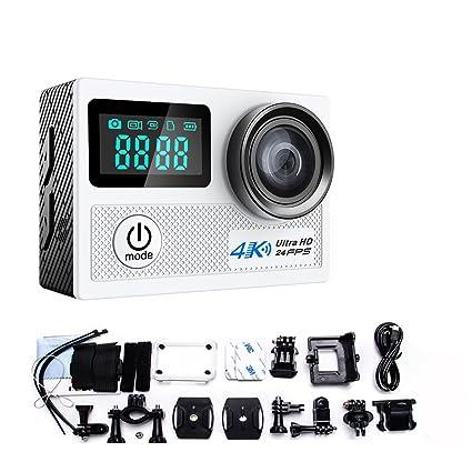 Mengshen 4K Cámara de Acción, Cámara Impermeable Wifi Deporte Ultra HD 1080P Cámara de Acción