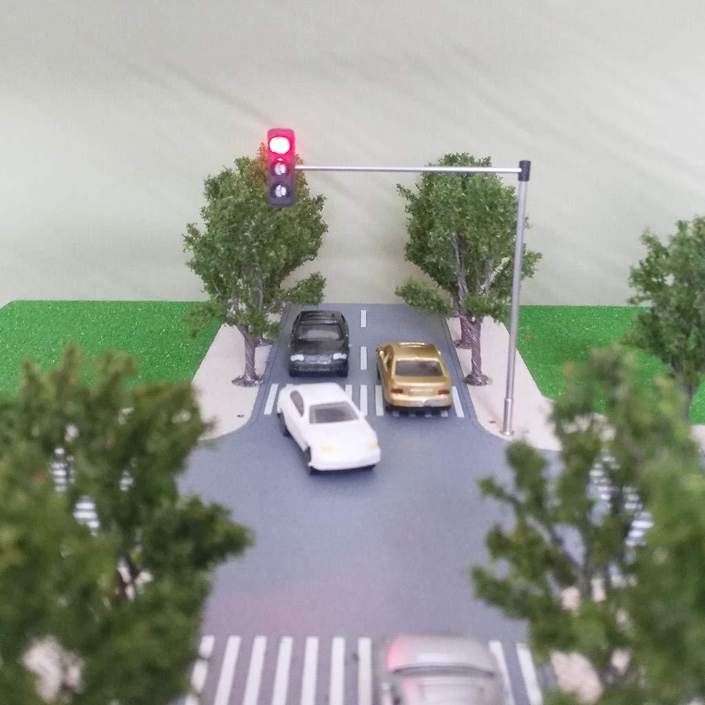 Bonarty 1 100 Modelo De Sem/áforo del Edificio Luces De Accesorios De Mesa De Arena En Miniatura 2 #