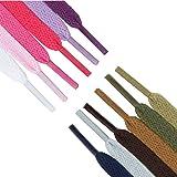 24 Pares Cordones de Zapatos de Deportes Cordones de 12 Colores