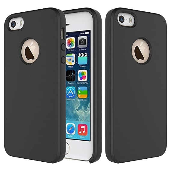 timeless design bf5aa bb1b7 Amazon.com: iPhone 5S Cover / iPhone SE Case, Crust Liquid Silicone ...