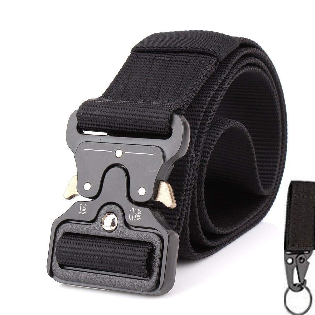 4666324bc7c HIGH QUALITY BELT - Made from environmental friendly nylon material with  military belt buckle