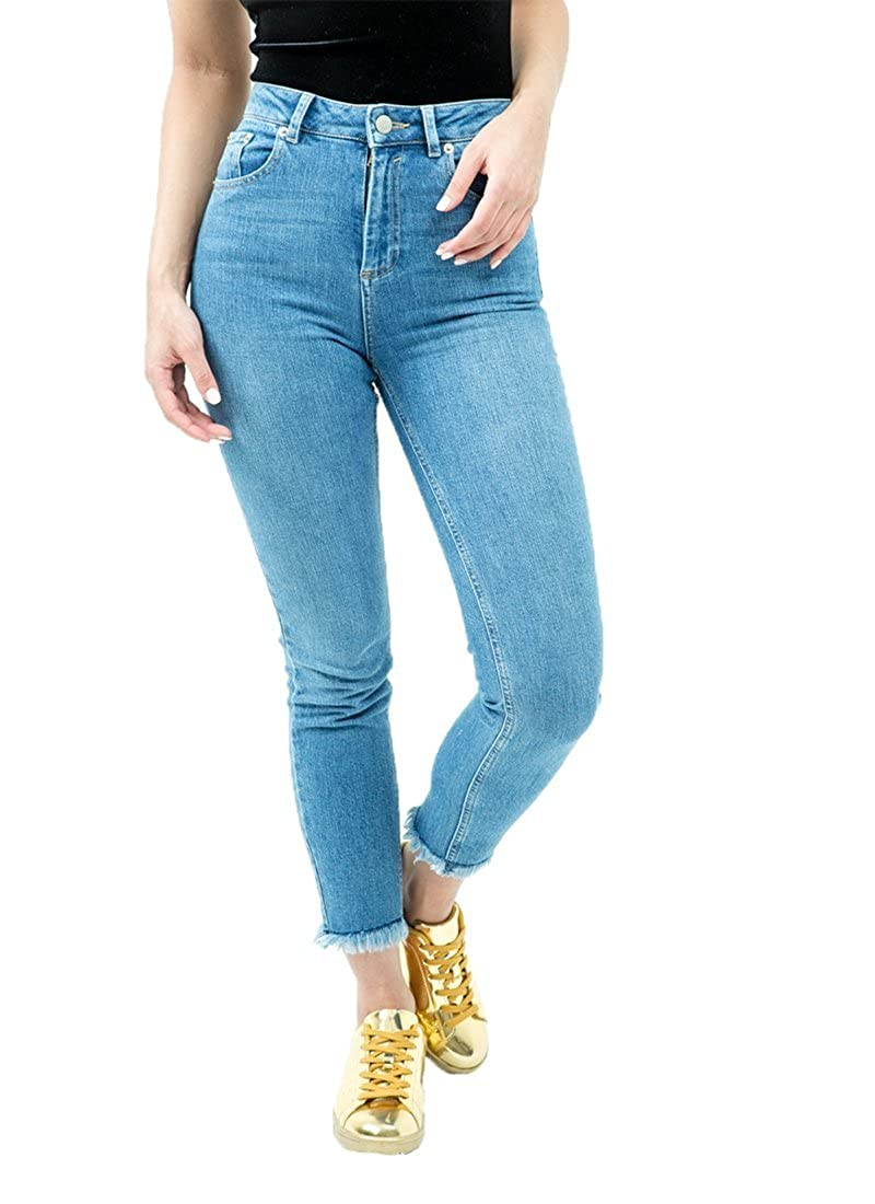 c9e539b7324 Womens raw Hem Frayed Skinny Jeans at Amazon Women s Jeans store