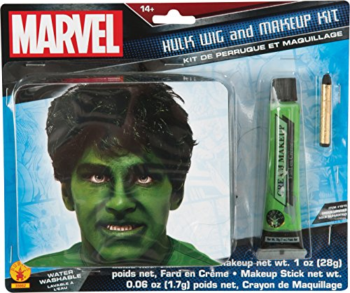 Incredible Hulk Costumes For Men (Rubie's Costume Men's Marvel Universe Adult Hulk Makeup Kit, Multi, One Size)