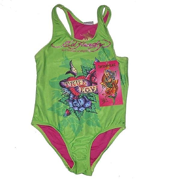 cf9e9a2742 Girls Ed Hardy Designer Stunning Swimming Costume Swimwear Swimsuit  Sizes:4-8years (4