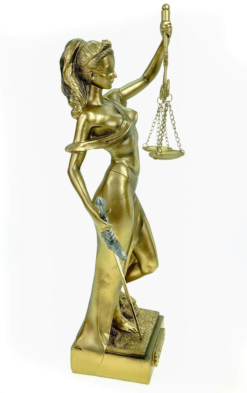 Scultura in Bronzo Anticato 2000Giustizia dea della Giustizia Firmata a Mano