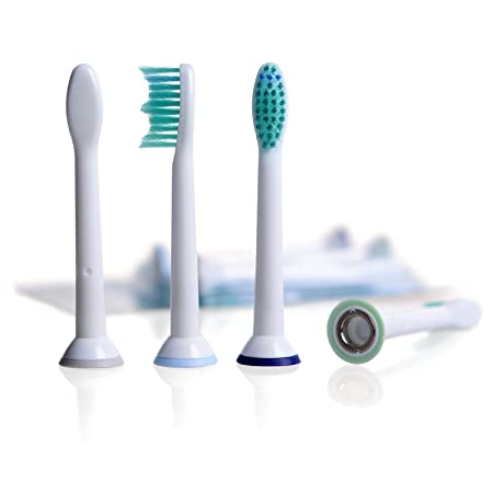 8 pcs. (2x4)4G kitty® Replacement Tooth Brush Heads Compatible for Philips Sonicare Electric Toothbrush Handles. Substitute for HX6014 HX6013 and