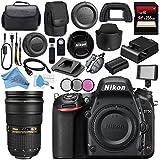Nikon D750 DSLR Camera 1543 AF-S NIKKOR 24-70mm ED Lens + 77mm 3 Piece Filter Kit + Carrying Case + 256GB SDXC Card + Card Reader + Professional 160 LED Video Light Studio Series Bundle