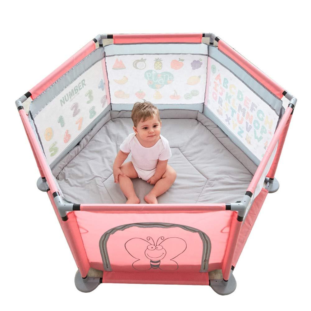 【新品本物】 ベビーフェンス クロールマットとボールの幼児男の子の女の子子供のための携帯用遊び場赤ちゃんの遊び場子供のための遊び場折りたたみ、高さ65cm (色 (色 : : Pink) Pink B07MRGFYKM B07MRGFYKM, カセダシ:be444d7b --- a0267596.xsph.ru