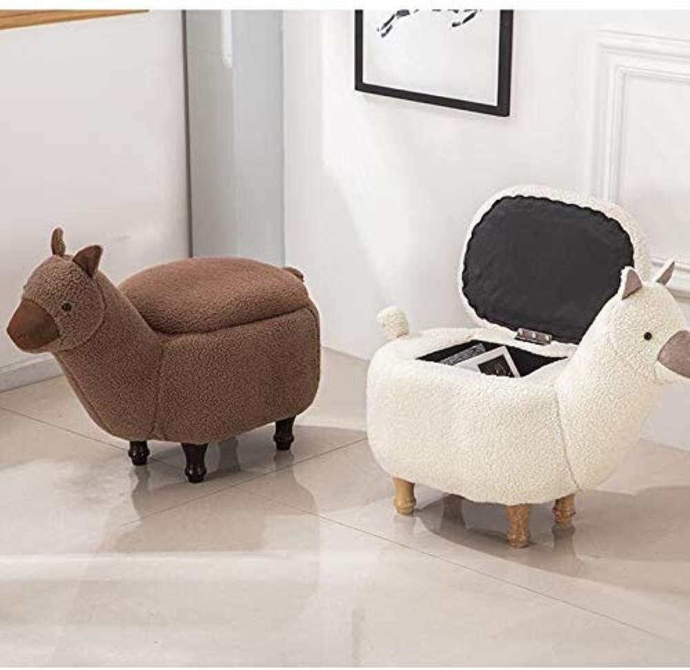 Y2 WGZ- Schuh ändern Hocker Heimschuh Changer Wohnzimmer-Sofa Hocker Multifunktionale Massivholz Lagerung Hocker Bequemlichkeit (Color : White) White