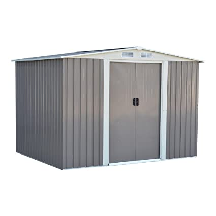 Homgrace Outdoor Garden Storage Shed, Utility Outdoor Patio Warehouse Large  Space Tools Shelter (8