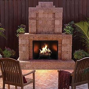 Amazon.com: 84 in. x 94.5 in. RumbleStone Outdoor Fireplace in ...