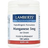 Lamberts Manganese 5mg (as Citrate) - 100 Tabs
