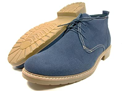 87e0c57af0b2a Amazon.com | Ferro Aldo Mens Blue Desert Boots Faux Suede Ankle High ...