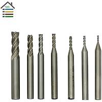 Generic 2PC 2x6mm : New 7 size HSS 4 Flutes Router Bit End Mill Milling CNC Cutter Wood Aluminum Drill Bits Straight Shank 1.5 2 2.5 3 4 5 7 mm