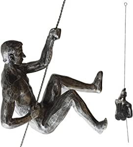 A.B Crew Unique Resin Made Climbing Man Wall Art Home Decor Sculpture(Posture 3)
