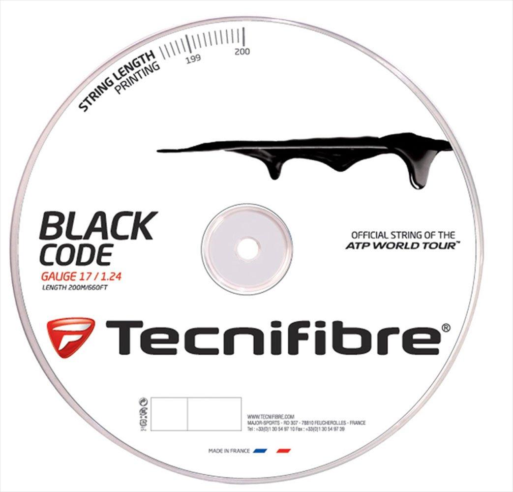 Tecnifibre Tennissaite TF Black Code 1.24 mm, 200 m, 116652
