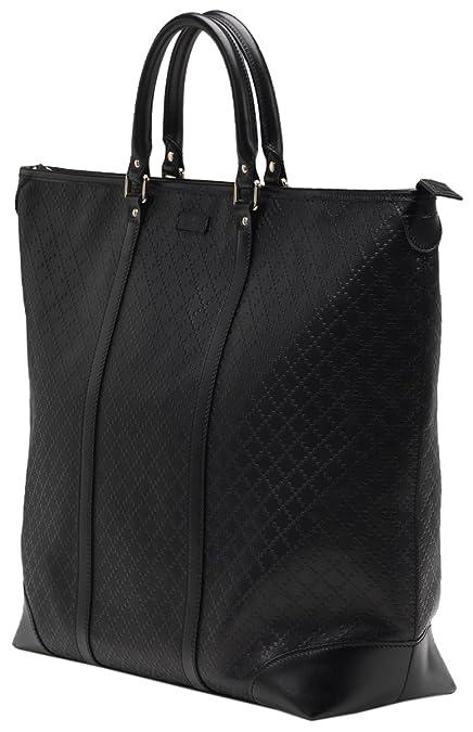 Amazon.com  Gucci Black GG Diamante Leather Top Handle Large Tote Bag  Shoes af0dd9abffe8e