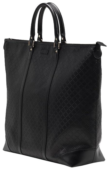 7249519edf7 Amazon.com  Gucci Black GG Diamante Leather Top Handle Large Tote Bag  Shoes